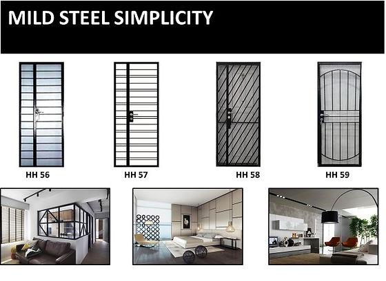 HDB mild steel gate simplicity design
