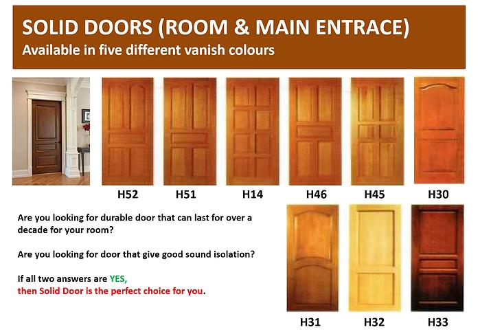 Solid Main Room Door Singapore