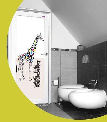 Toilet Door Singapore Giraffe Aluminium Swing Door