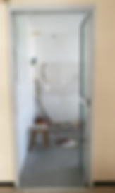 top hung bifold install at HDB BTO flat | bifold door fully openly without bottom track
