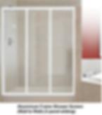 acrylic shower screen Singapore - aluminium frame shower screen - wall to wall - 3 panel sliding