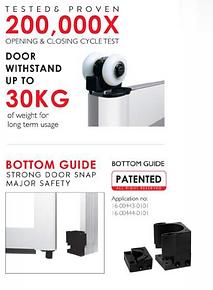 Premium Bifold Door Top Hung Roller Spec