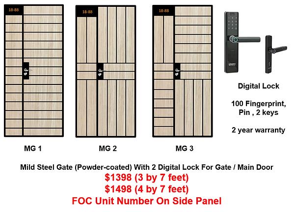 Mild Steel Gate With Digital Lock Bundle at $1398