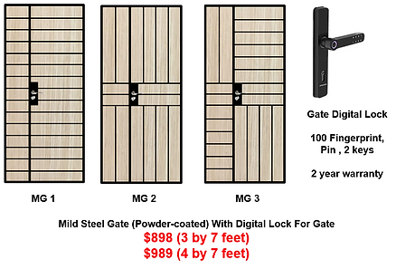 Mild Steel Gate With Singgate digital lo