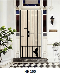 Mild Steel Gate in Singapore With Shih Tzu