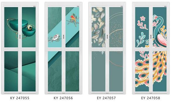 Premium Bifold Door Best Seller in 2020 Green Tropical Design