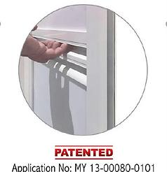 Premium bifold door 2 in 1 handle