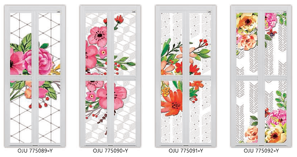 floral bifold door design singapore