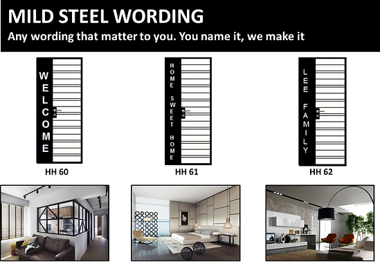 HDB mild steel wording metal plate gate singapore