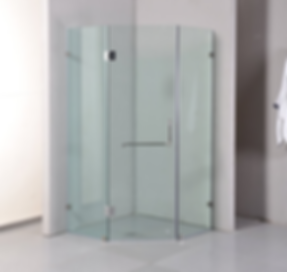 tempered glass shower screen in Singapore - diamond shape in singapore HDB