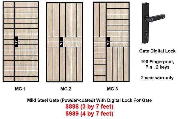 Mild Steel Gate With Digital Lock Bundle at $898