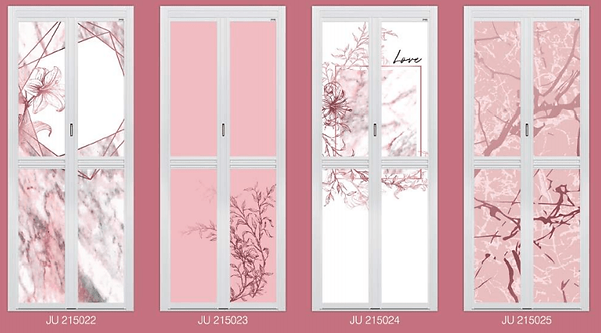 Premium Bifold Door Best Seller in 2020 Pink Colour Design
