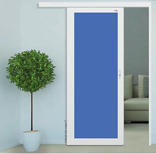 kitchen sliding door singapore cheap price | acrylic sliding door with white aluminium raeand blue acrylic panel