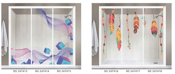 Volume 24 Premium showerscreen Colourful