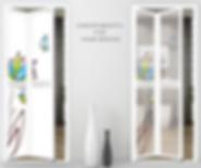 Designer bifold door singapore panel options | designer toilet door singapore panel option