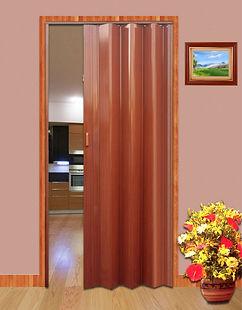 brown folding door in Singapore kitchen