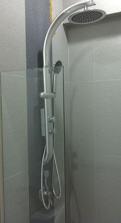 high quality silver rain shower set singapore