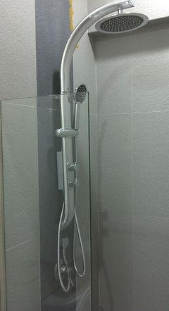high quality silver rain shower set singapore