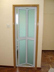 Toilet and bathroom door singapore | Classic bifold door 2