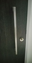 Main door with long handle bar that may not be able to install Yale 424 digital lock