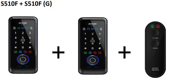 Schlage S510F+S510F (G) Digital Lock Bun