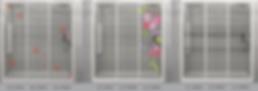 design panel aluminium shower screen Singapore floral design