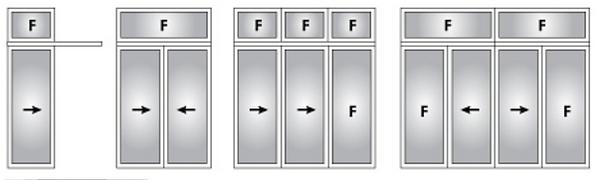 Aluminium sliding door layout option in Singapore