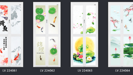 Breathtaking Chinese Art Designs On Our Latest Bathroom Door Series in Singapore
