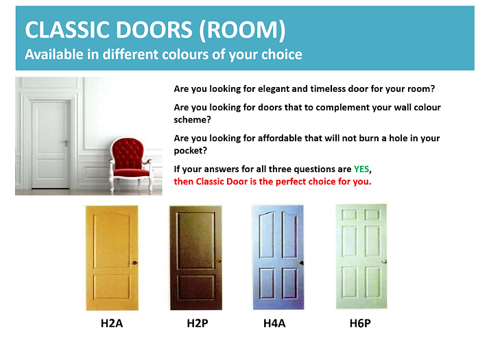 Classic Room Door Singapore
