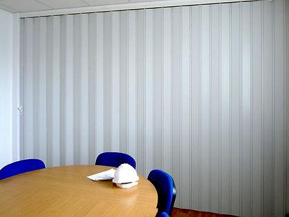 White folding door in Singapore meeting room