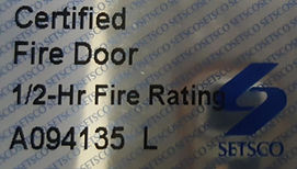 fire rated door Singapore | HDB fire rated door Setsco Sticker to proof main door in Singapore is fire rated