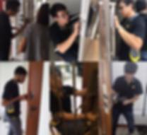 Yale digita lock installer installing Yale 4110 digital lock in Singapore