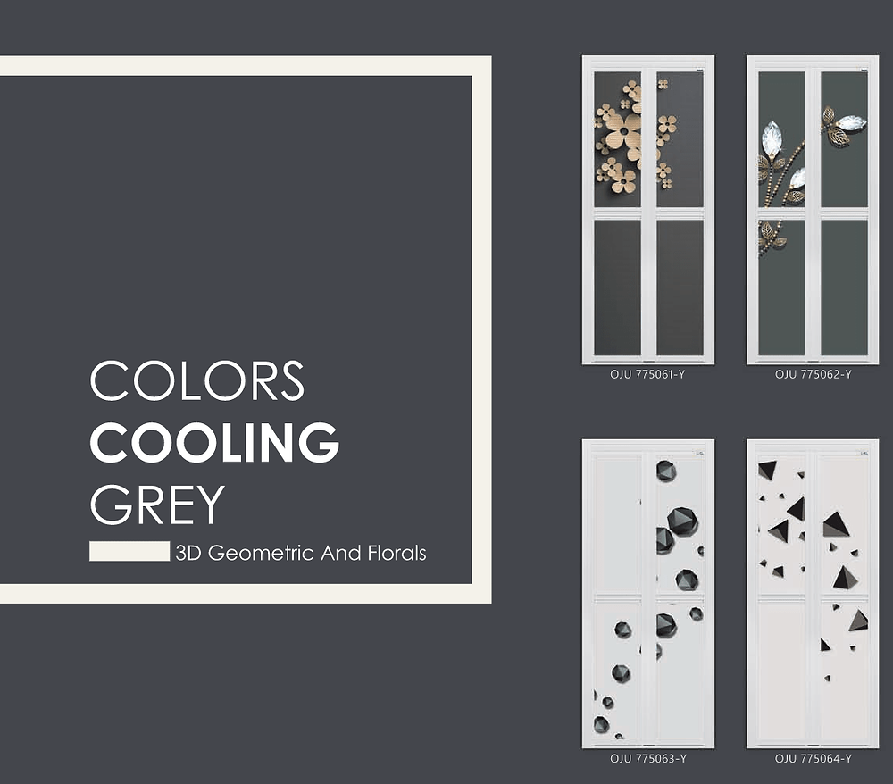 Cool Grey Bifold Door Design For Singapore Home | Toilet Door Singapore