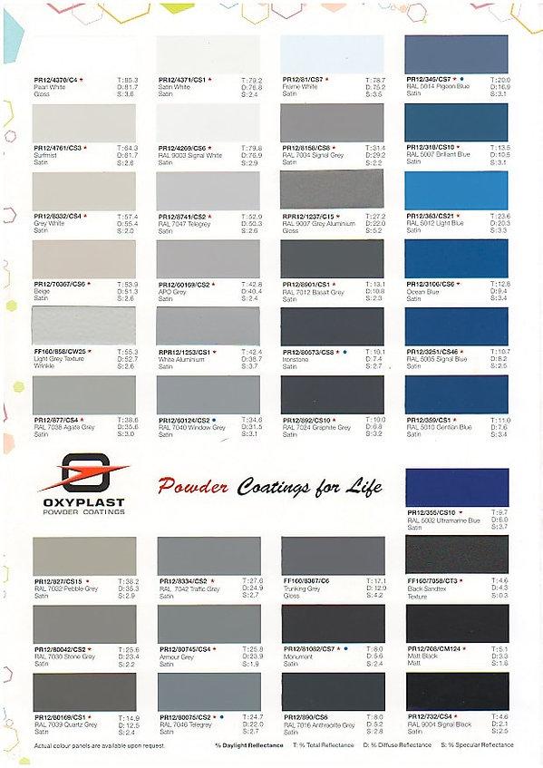mild steel gate singapore colour chart 1