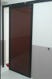 Aluminium sliding door black frame with