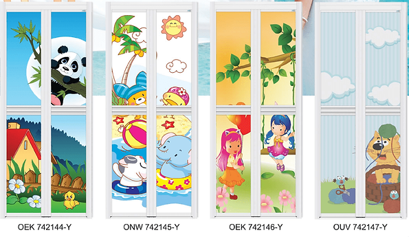 Cute carton bathroom door singapore