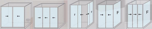 shower screen singapore - differet layout of shower screen available in singapore