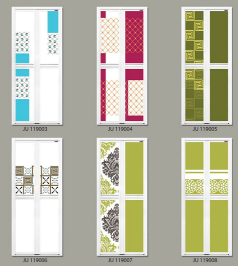 Batik Design Bifold Door Singapore | Batik Design Toilet Door Singapore