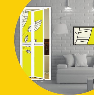 Bathroom Door Singapore | Yellow Bifold Door Singapore | Toilet Door Singapore
