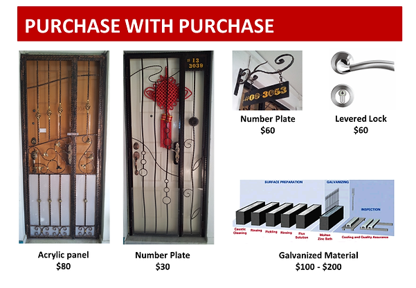 HDB iron gate accessories purchase with purchase cheap price deal