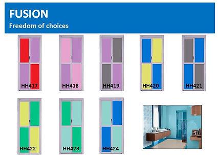 Toilet and bathroom door singapore | fushion bifold door design 1
