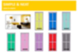 cheap toilet door Singapore design | 4 panel bifold door with single colour