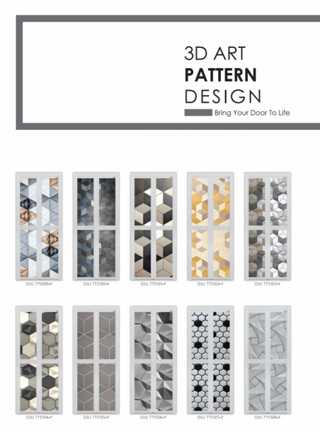 Bring your kitchen door to live by installing one of these 3D art pattern design bifold door