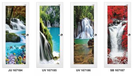 Latest Design Aluminum Swing Door With Nature Theme Design