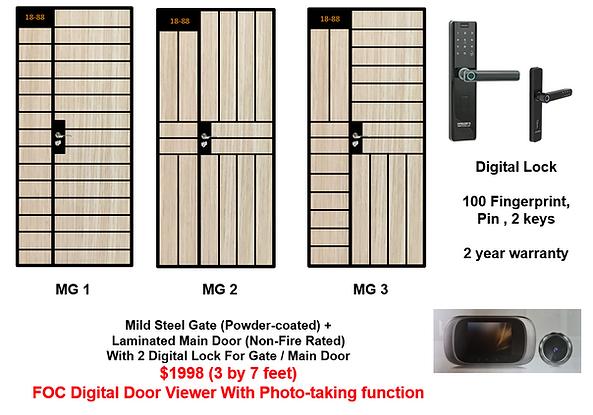 Mild Steel Gate With 2 Singgate digital bundle at $1998