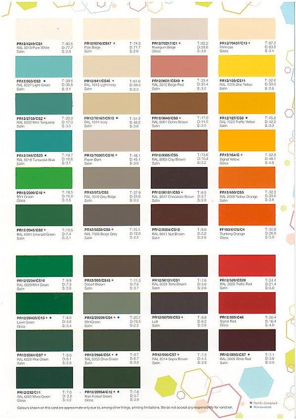 mild steel gate singapore colour chart 2
