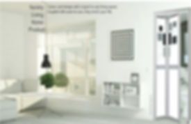 Toilet Door Sinapore Black and White Design Bifold Door