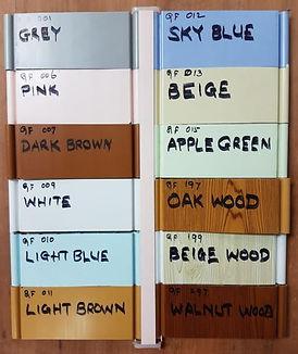 PVC Folding Door Singapre Colour Option