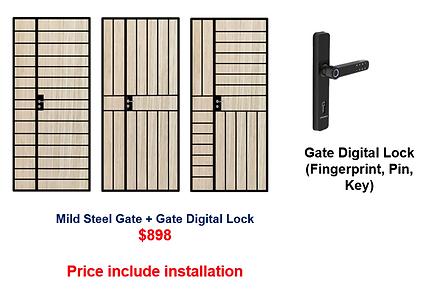 Mild Steel Gate + Digital Lock Bundle $8