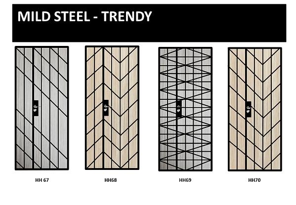 mild steel trendy gate design singapore